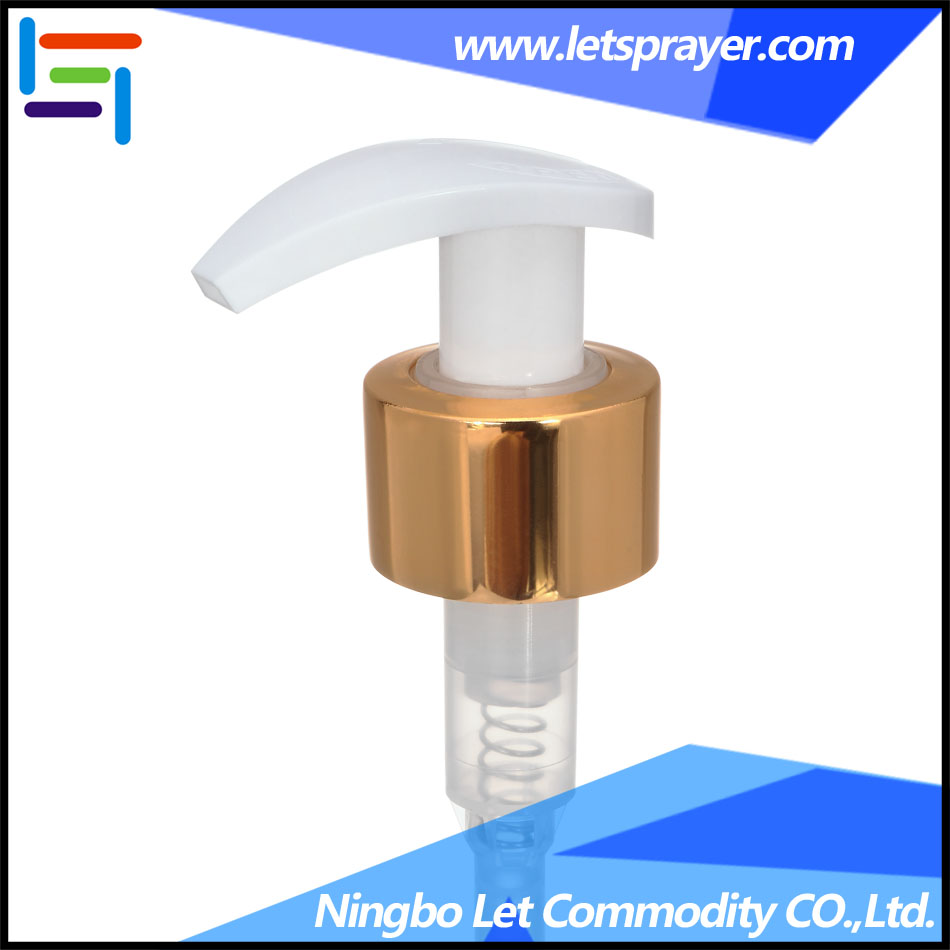 Golden color 24/410 28/410 aluminum lotion pump for shampoo